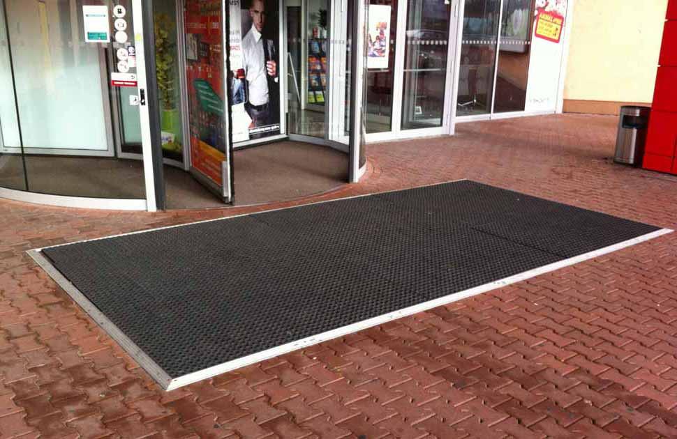 Грязезащитные ковры резиновые ячеистые коврики